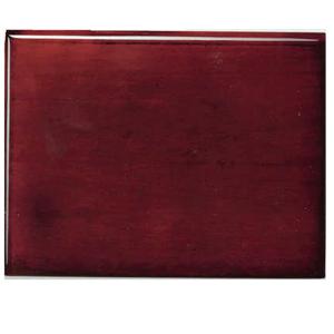Base in legno lucido con piede e scatola