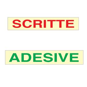 Scritte adesive prespaziate con application tape