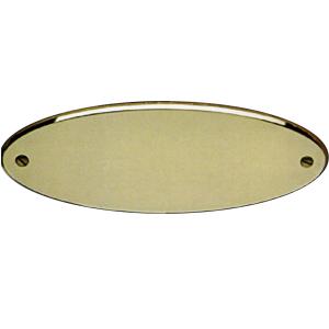 Targa da porta ovale o bombata in ottone lucido
