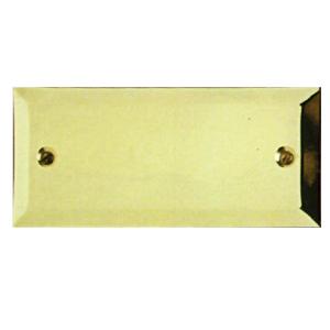 Targa da porta scatolata in ottone lucido