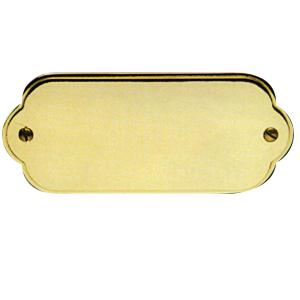 Targa da porta sagomata in ottone lucido